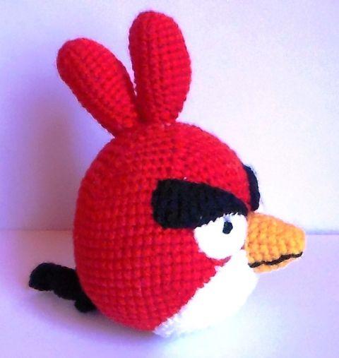 Angry Birds-horgolt amigurumi, Játék, Játékfigura, Baba játék, Meska
