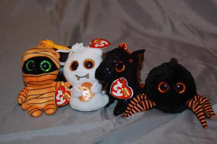 TY BEANIE BABY BOOS Halloween Key Chain ~ U-PICK CHOICE ~ MOST MWMT'S !   #Ty