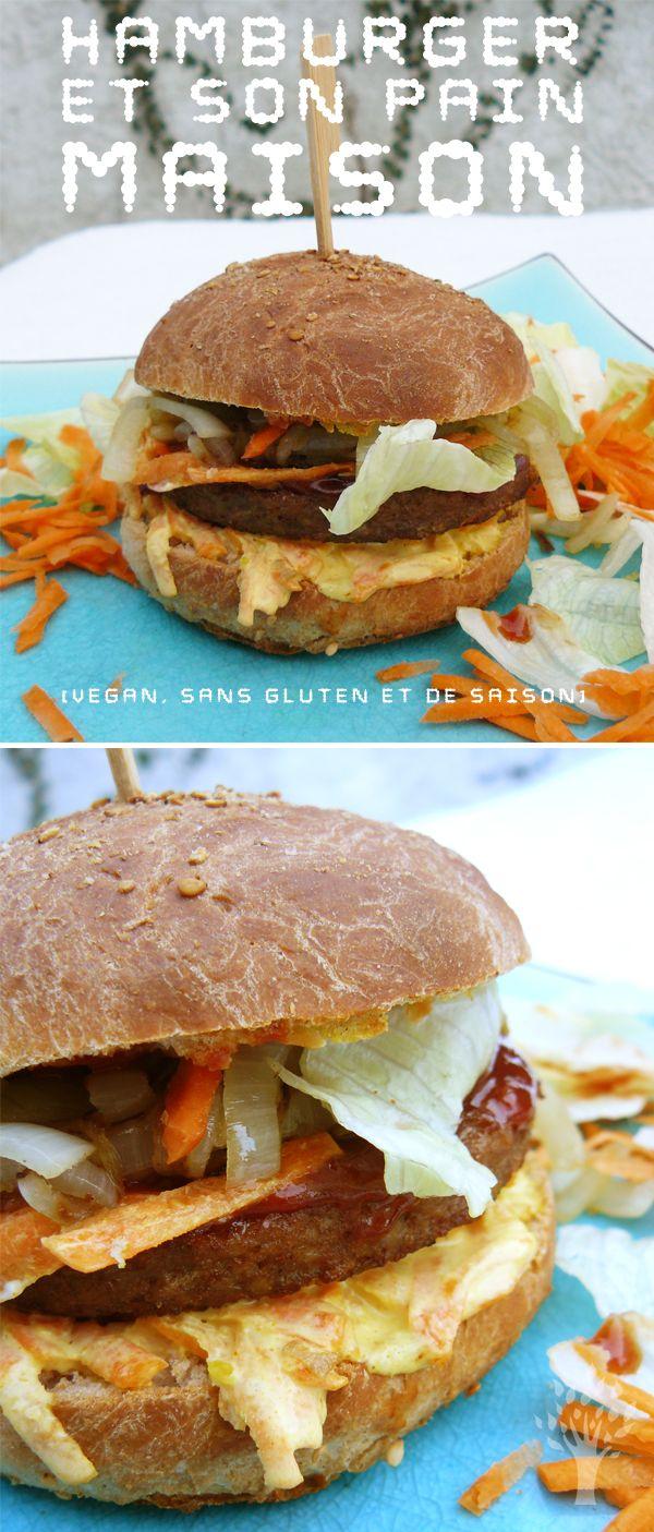 Hamburger et son pain maison (vegan, sans gluten et de saison)