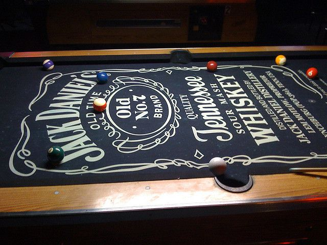 #JackDaniels Jack Daniels Pool Table, perfect for my man cave.