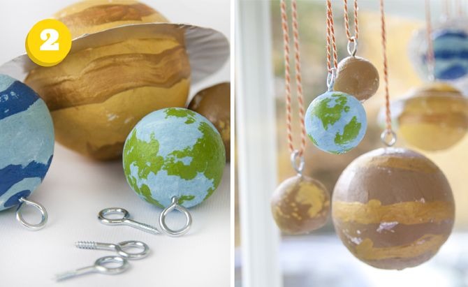 DIY solar system! :D i always loved these as a kid-- and still do! :D i'd hang them from my ceiling. :3