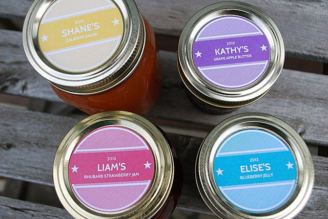 Printable Canning Jar Labels - Personalized