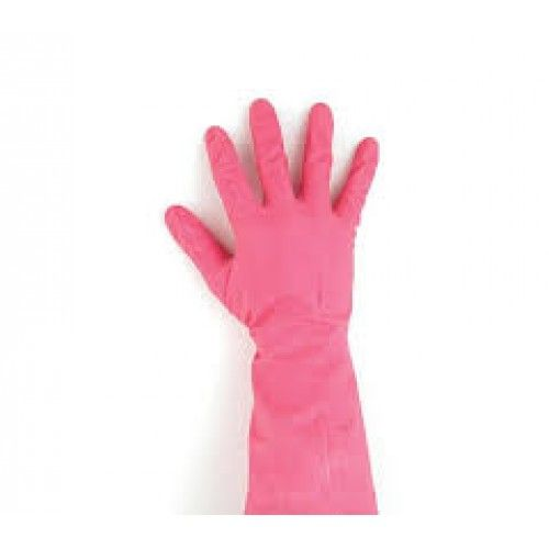 Household Rubber Gloves Pink- Comes in Small, Medium, Large, Extra-Large