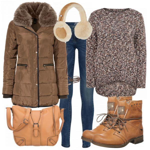 Kuschelig Damen Outfit Komplettes Winter Outfit günstig