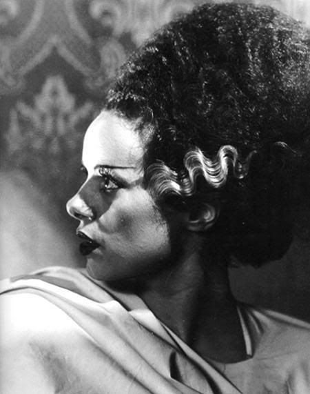 Some ideas for styling a bride of Frankenstein wig