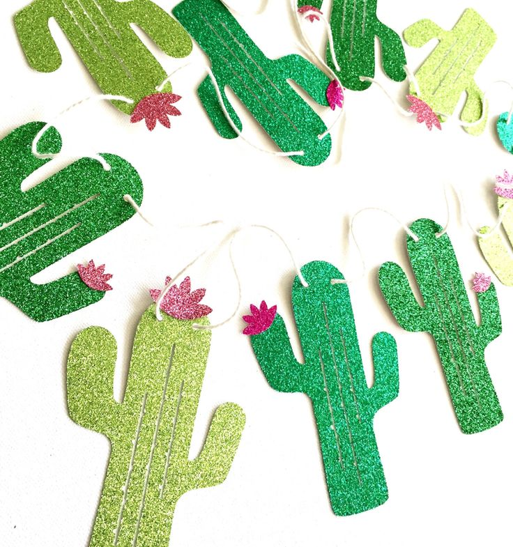 Glitter Cactus Banner - Fiesta Banner - Cactus Decor // Cinco de Mayo Decor // Fiesta Party Decorations by CloverandBloomCo on Etsy https://www.etsy.com/listing/236790919/glitter-cactus-banner-fiesta-banner