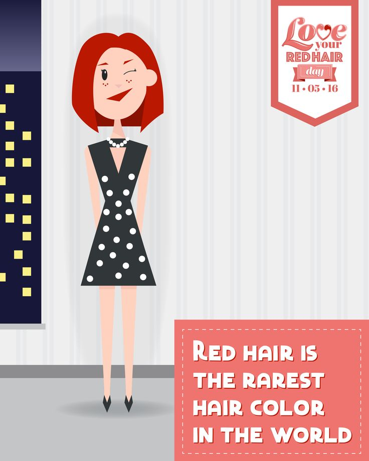 Redhead Fact: Red hair is the rarest color in the world. #LoveYourRedHairDay