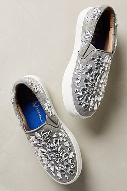 Jeffrey Campbell Sarlo Jeweled Sneakers #anthropologie