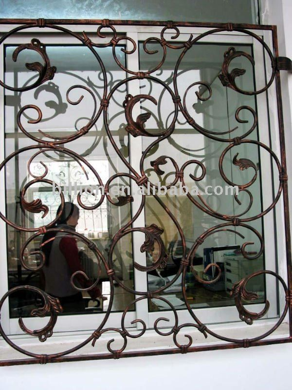 24 best images about window grill ideas on pinterest for Iron window design house