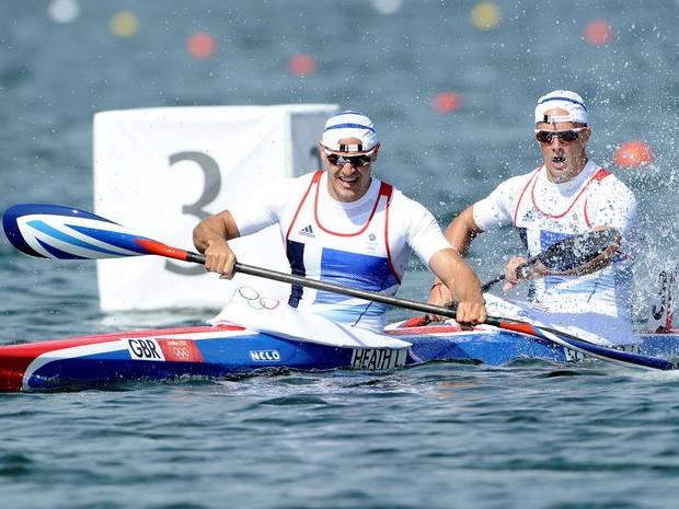 Liam Heath and Jon Schofield win bronze in the men's kayak double