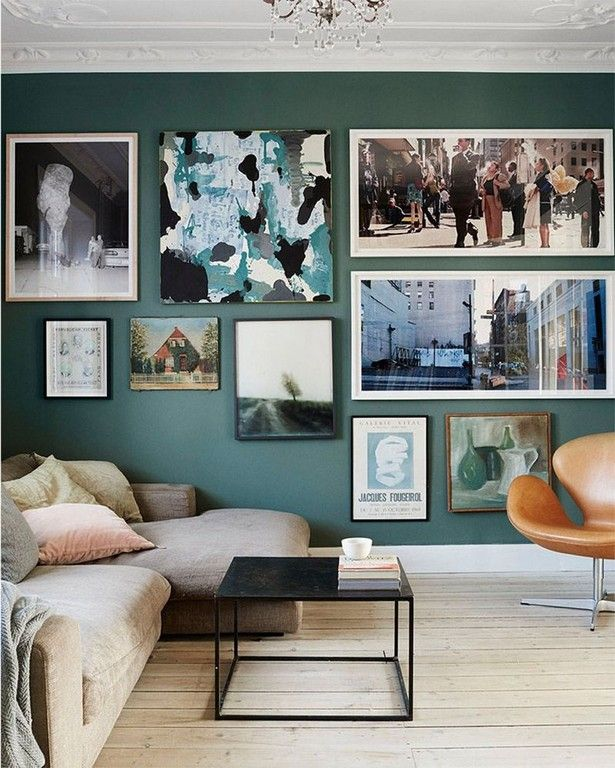 This Elegant Apartment Is What Home Decor Dreams Are Made Of | Modern  Interior Design Inspiration · Wall ColorsGreen Living Room ...