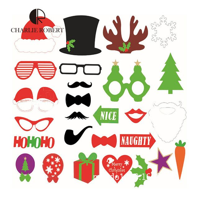 2016-Christmas-Party-DIY-Photo-Booth-Props-Quirky-Party-Supplies-Santa-Hat-Christmas-Tree-Pattern-Party.jpg_640x640.jpg (640×640)