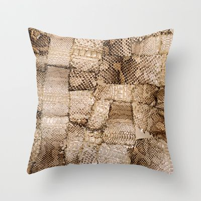 Snake skin Throw Pillow by The Play Dough Lady - $20.00
