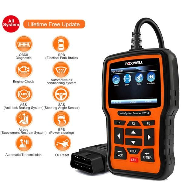 Foxwell NT510 Full System OBD2 Anto Diagnostic Scanner Tool
