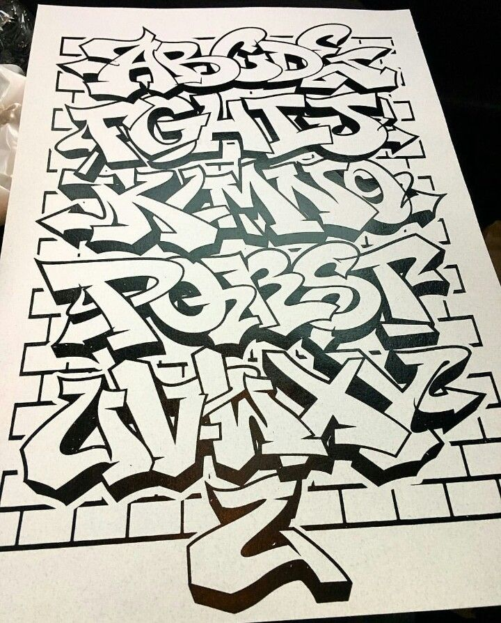 Image By Kelsey Myers On Graffiti Alphabet Graffiti Lettering