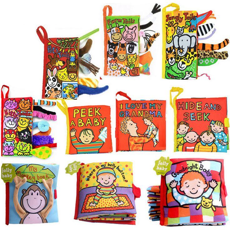 귀여운 만화 유아 장난감 조기 개발 동물 부드러운 천으로 책 아기 어린이 학습 교육 이야기 책