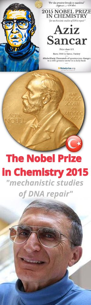 The Nobel Prize in Chemistry 2015. Mechanistic studies of DNA repair. Prof. Dr. Aziz SANCAR 2015 Nobel Kimya Ödülünü Aldı.