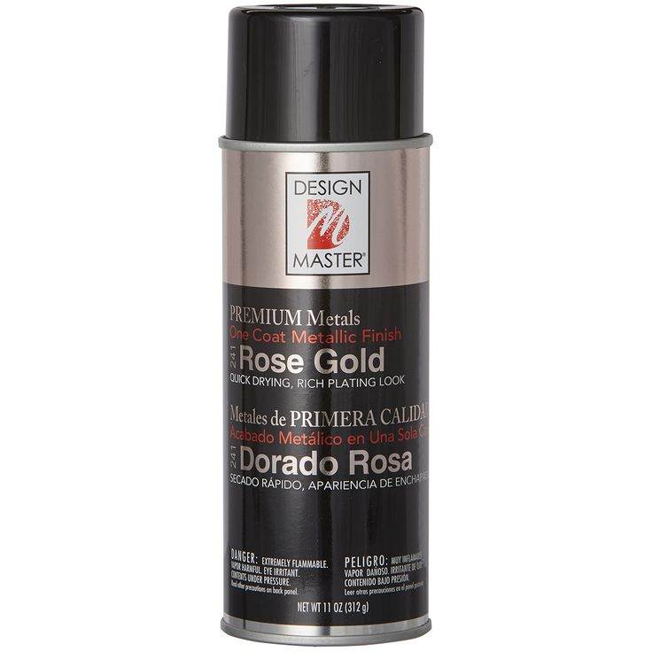 Decorate for the holidays or any special occasion using this beautiful rose gold spray paint from Design Master. This metallic spray paint adds a touch of shimmer to your crafting projects, whether yo