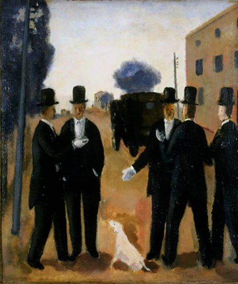 Virgilio Guidi - Duello alle porte di Roma, 1927.