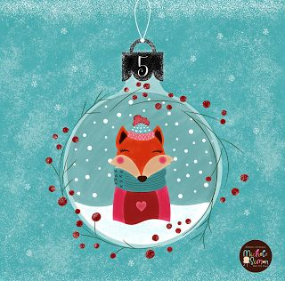 FlossieandFig: The Fox Ornament - Advent Day 5