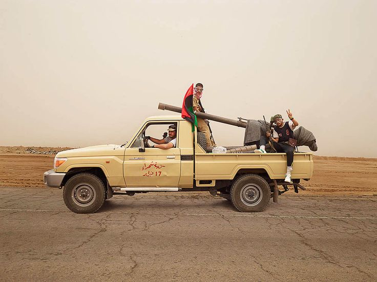 Muhammad, Emraga and Abdalslam, near Ajdabiya, Libya  