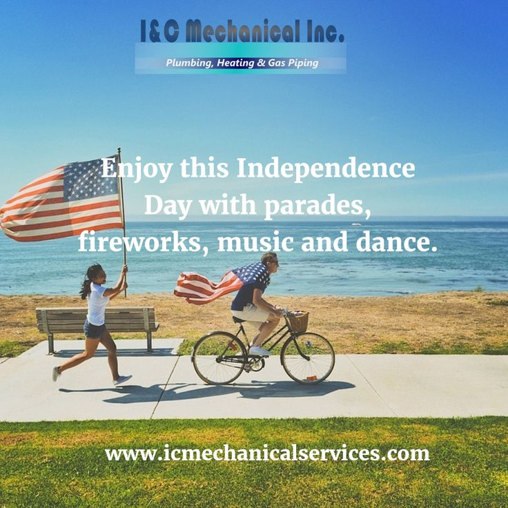 Enjoy this Independence Day with parades, fireworks, music and dance. Have a fun filled 4th of July! www.icmechanicalservices.com  #4thofjuly #fourthofjuly #independenceday #patriotism #unitedstates #usa #fourthofjulyweekend #fourthofjulycelebration #fireworks #starsandstripes #redwhiteandblue #plumbing #plumber