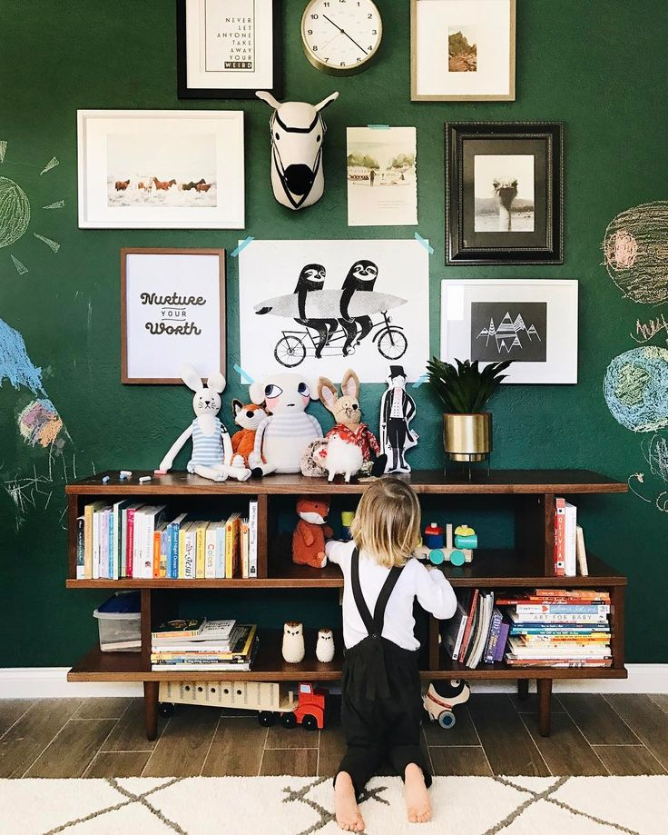 The chalkboard wall was a hit! Every time kids come over, that's the first thing they rush to do. And I am obsessed withthe color. I am having a love affair with green lately and this did ju…