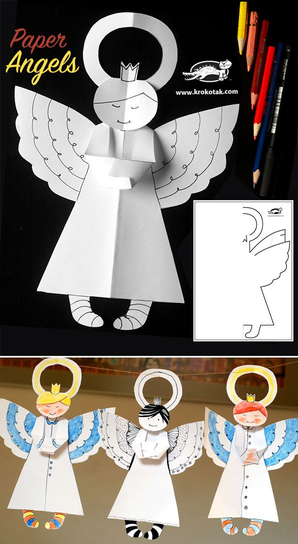 Paper Angels Christmas craft for kids