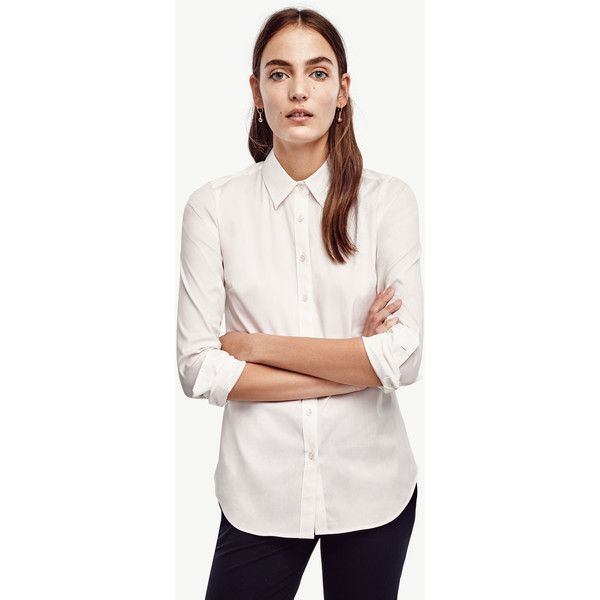 Best Ann Taylor Petite Perfect Shirt 70 Liked On Polyvore 400 x 300