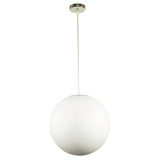 Phase Acrylic Sphere Complete Pendant Light (Oriel Lighting)