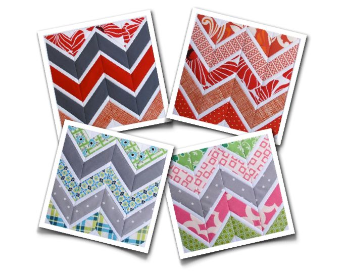 Free Quilt Pattern: Sharp Chevrons Template - I Sew Free