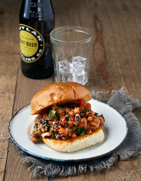 Slow Cooker Sloppy Black-Eyed Peas  are a easy and a great way to sneak in some greens.//. Lots of carbs. Maybe use a high protein alternative?