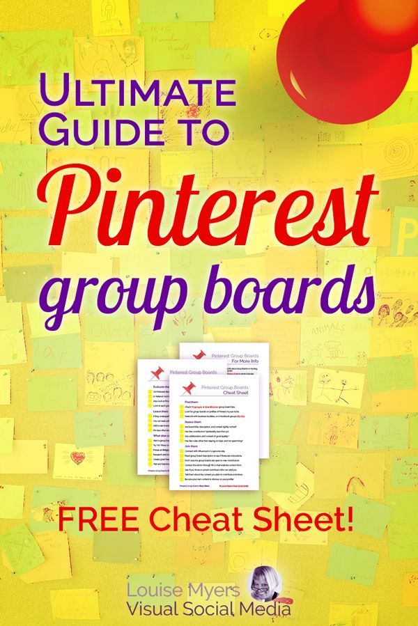 Pinterest marketing tips: Group Boards are touted to increase your reach, repins, and followers. But do they? CLICK to get your FREE printable cheat sheet! Learn how to find good ones, leave others, and host your own. A must-read for small business owners and bloggers. #pinterestmarketing #pinteresttips #smallbusinesstips #smm #socialmediamarketing #bloggers