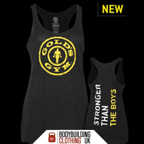 Are you strong enough - NEW ladies Golds Gym Stringer Than The Boys tank now in stock. #goldsgym #ukgoldsgym #cardio #ukgym #weighttraining #ukbodybuilding