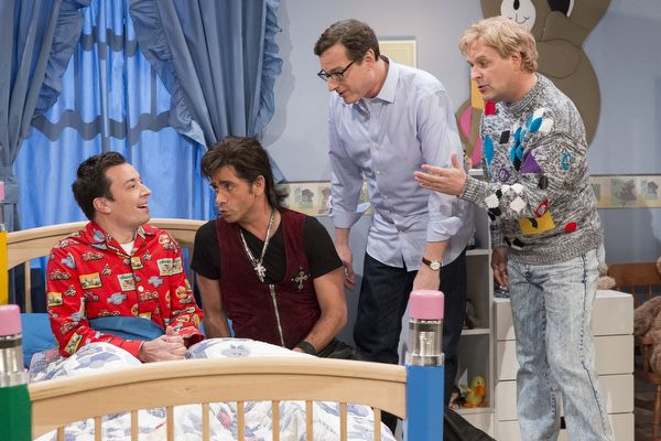 "The Men Of ""Full House"" Reunited To Help Jimmy Fallon With His Nightmares ......this is wonderful"