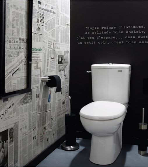 17 meilleures id es propos de papier peint brique - Decorer ses toilettes de facon originale ...