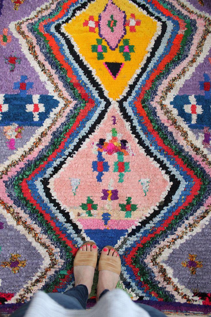 Pretty Boucherouite rug from Baba Souk