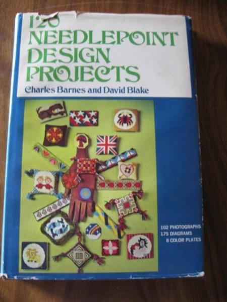 120 Needlepoint Design Projects Charles Barnes and David Blake 102 Photographs 175 Diagrams and 8 Color Plates by ShopWithLynne, $5.00 USD