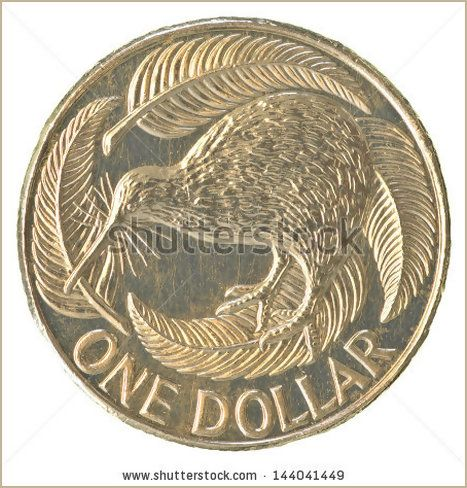 One New Zealand Dollar coin isolated on white background - Shutterstock