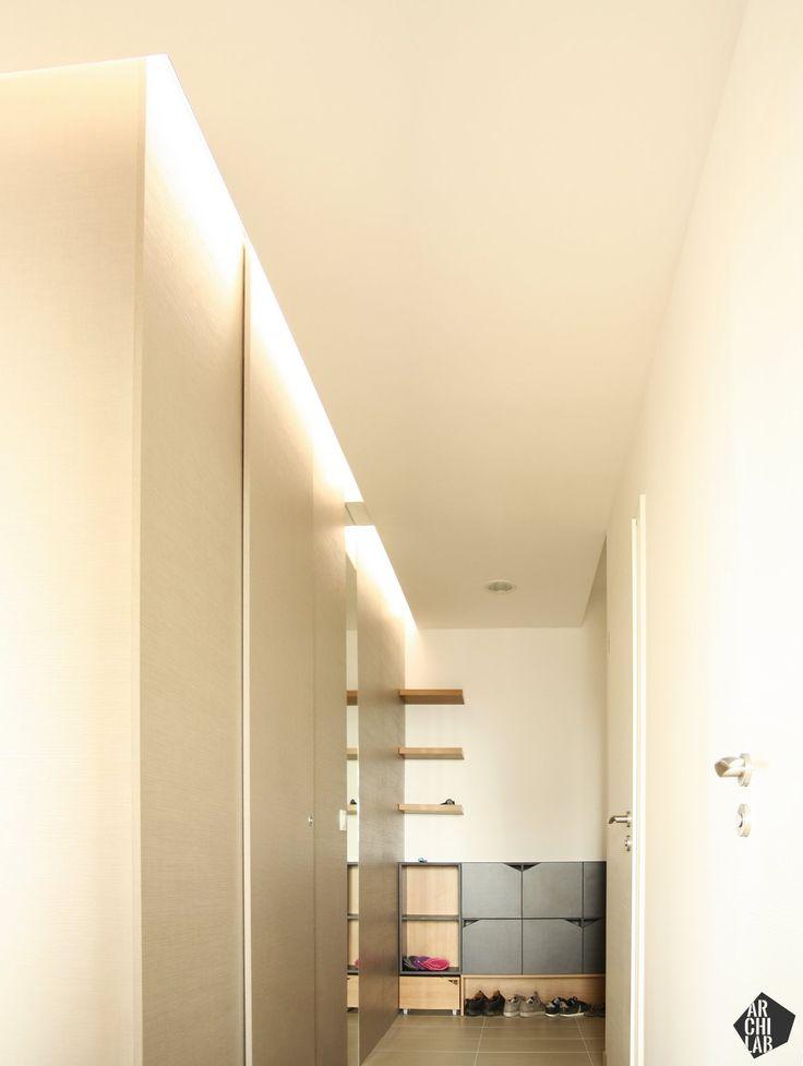Návrh vstupnej chodby s botníkom - interiér bytu Kadnárova, Bratislava - Interiérový dizajn / Hall interior by Archilab