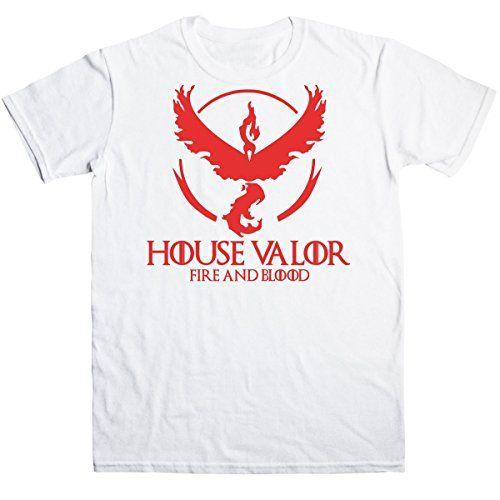 Pokemon Go Game of Thrones House Valor Fire And Blood Men's T-shirt #camiseta #friki #moda #regalo