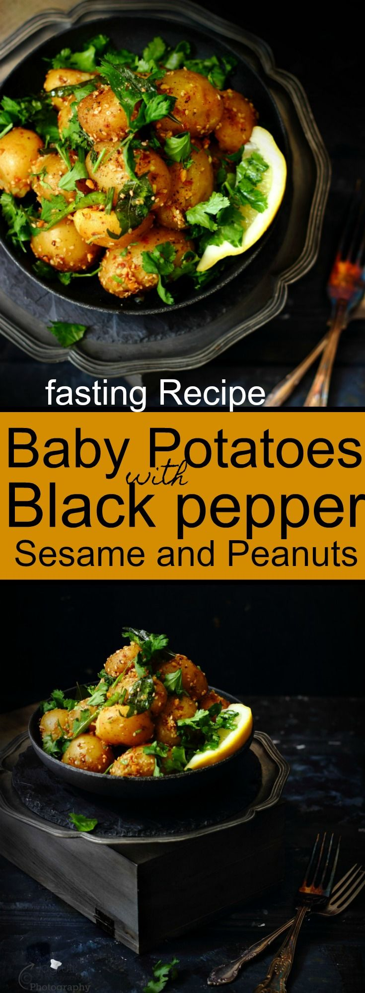 Baby Potatoes with Black pepper, Sesame and Peanuts-fasting Recipe
