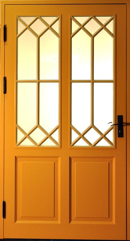 Ytterdörr, enkeldörr ED24 med spröjs 4 kryss | www.allmoge.se