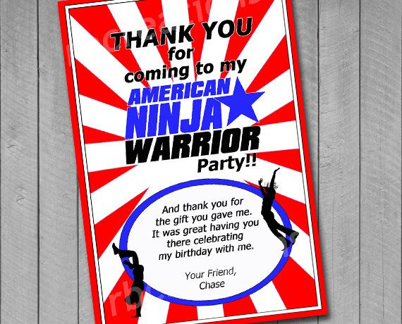 Thank You Note for American Ninja Warrior Digital by rbcreation