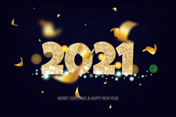 2021 Happy New Year Golden Banner Graphic By Kapitosh Creative Fabrica In 2020 Happy New Year Wallpaper Happy New Year Wishes Happy New Year Photo