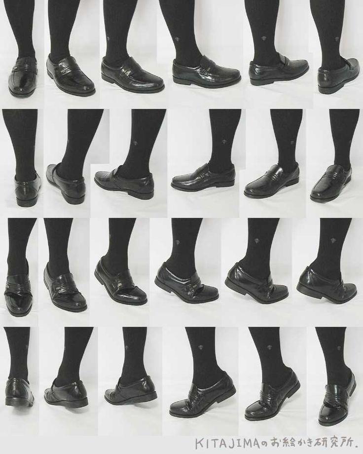 """""""발 그리기 자료. 맨발과 구두를 신은 발입니다. #자료 #발"""""""