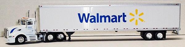 Diecast Trucks - TONKIN - SP091 - Walmart Spark - Peterbilt 386 Day Cab and 53' Dry