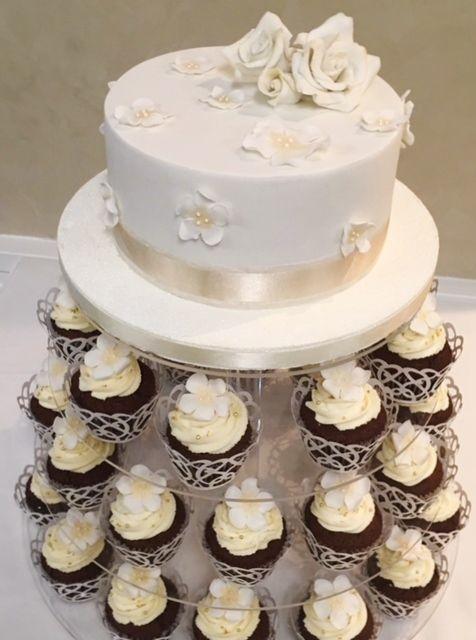 Wedding Cake & Cupcakes  Violeta Glace