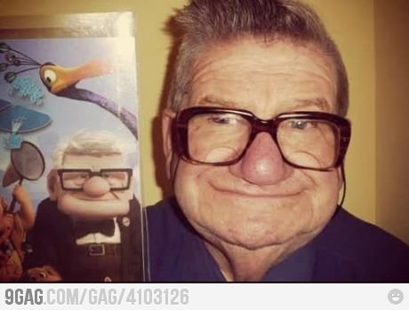 Mr. Fredrickson! They found him!This Man, Real People, Real Life, The Real, Funny, Disney, Norway, Looks Alike, Cartoons Character