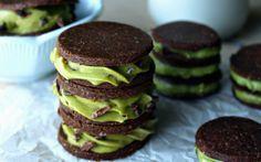 Primas Matcha menta galletas Oreo [vegetariana] | Un planeta verde